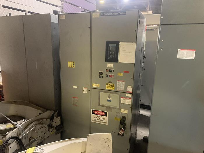 Used GENERAL ELECTRIC LIMITAMP CR7160  HP CONTROLLER W/ DRAW-OUT AIR-BREAK CONTACTOR