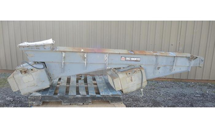 "USED VIBRATORY FEEDER, 10"" WIDE X 105"" LONG, CARBON STEEL"