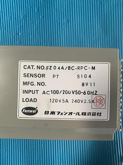 Used Fenwal temperature controller FZ04A/BC-RPC-M