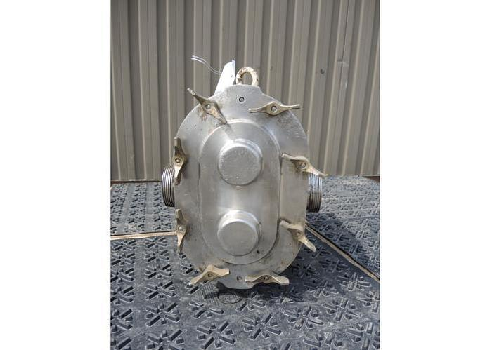 USED WAUKESHA ROTARY LOBE PUMP, MODEL 60, STAINLESS STEEL