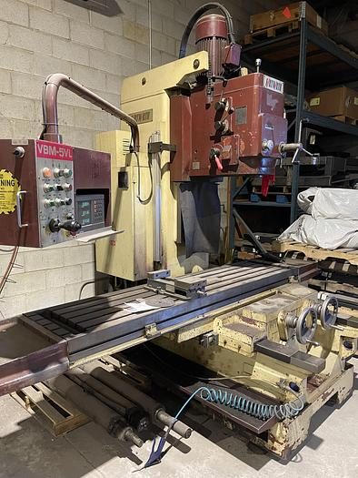 "Used 19"" x 86"" FORTWORTH MODEL, VBM-5VL BED TYPE VERTICAL MILLING MACHINE"