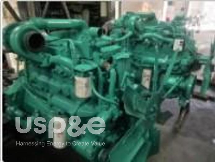 Used 6 MW 2010 Used Cummins NTA8554G4 Diesel Generator Sets