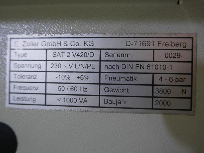 Werkzeugvoreinstellgeraet Zoller Saturn 2