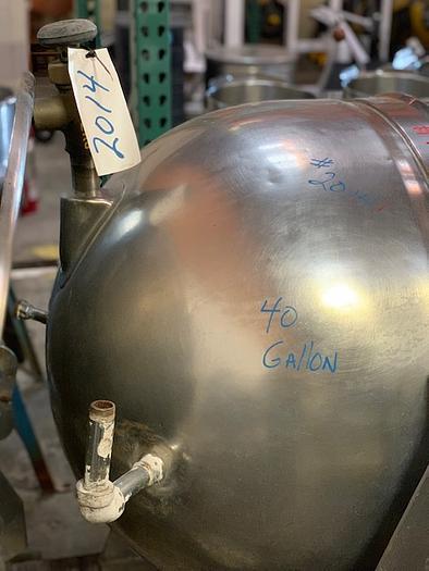 40 Gallon Legion Steam Jacketed Kettle