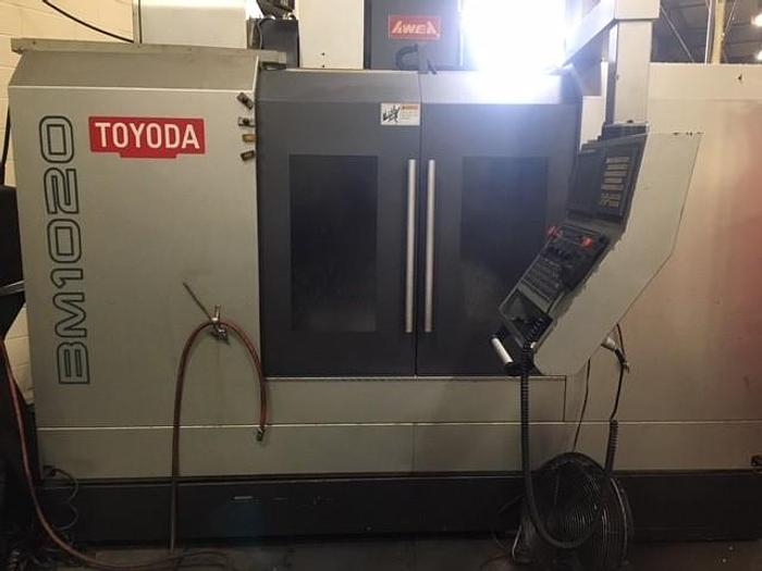 Used TOYODA MODEL BM-1020 VERTICAL MACHINING CENTER WITH PALLET CHANGER