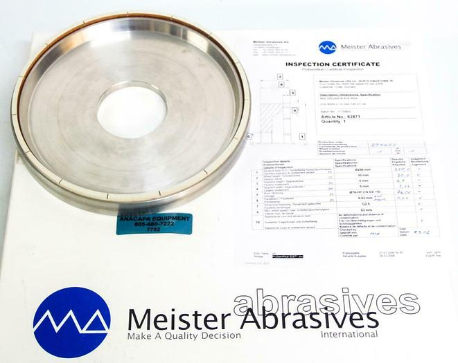Used Meister Abrasives D32-8500-L-12-