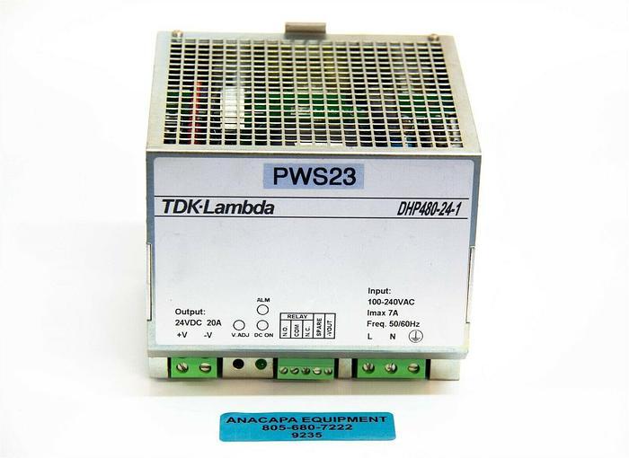 Used TDK Lambda DHP480-24-1 Single Output Rail Power Supply 100-240VAC Used (9235)K