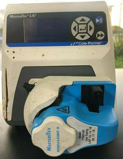 Used Cole-Parmer 7522-20 Masterflex L/S Peristaltic Pump, Stained Cover