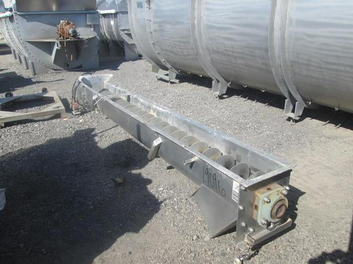 "Used Stainless Steel Auger; 12""D x 12'L"