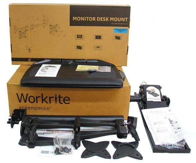 WorkRite 2128-22 Banana-Board, Monoprice PID 5560 Dual Monitor Arm NEW (7715) W