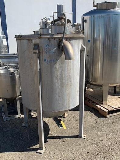 150 Gallon Vertical Stainless Steel Tank