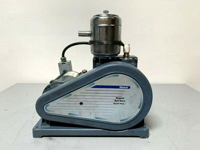 Used Welch 1367W-01 DuoSeal Rotary Vane Vacuum Pump