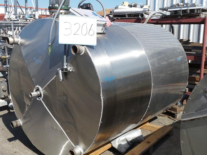1,000 Gallon Vertical Insulated Stainless Steel Tank, #3206