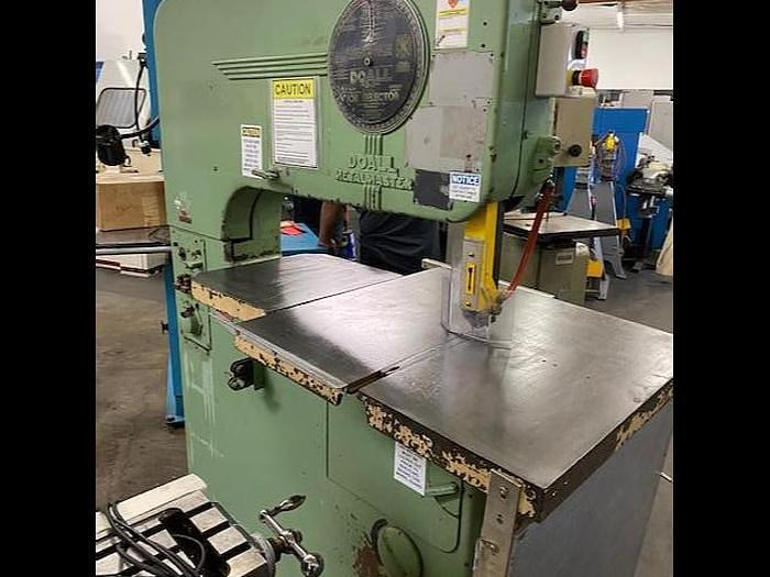 "Used DoAll 36"" Vertical Bandsaw Model 36"" Metalmaster #5701"