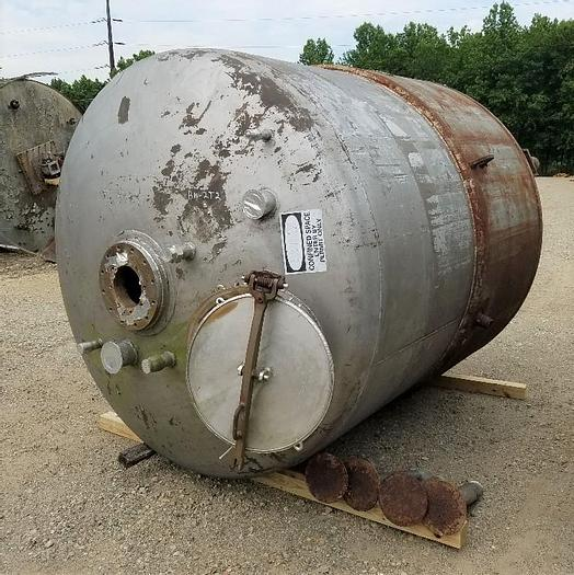 Used 2000 GALLON PFAUDLER REACTOR - S/S - 20/35 PSI