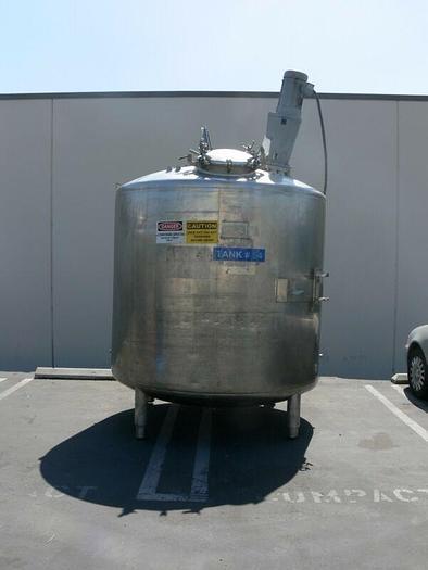 Used Paul Mueller 4000 Liter SS Jacketed Reactor w/ Agitator 25 PSI FV &138 PSI