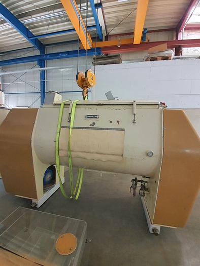 Gebraucht gebr. Einwellen-Mischer BÜHLER Type SMC-1500 mit ca. 1.500 Litern Inhalt.
