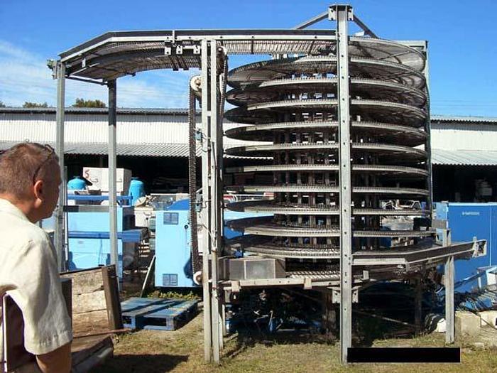 Używane Tunel spiralny do zamrażania wyrobów kulinarnych i innych, produkcji niemieckiej