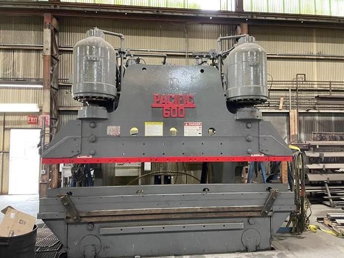 Used 600 Ton Pacific 600-10 Hydraulic Press Brake