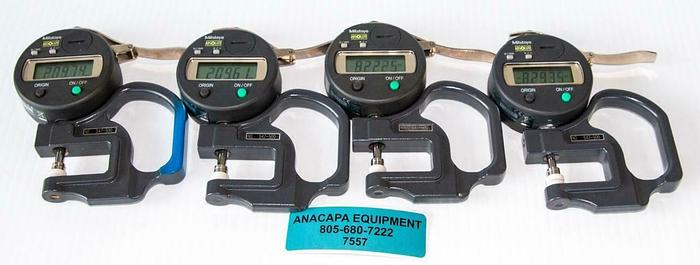 Used Mitutoyo Absolute 547-500 Digimatic Thickness Gage Lot of 4 USED (7557) W