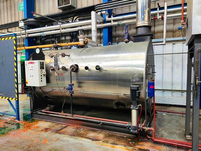 Used 2008 Fulton RBC1250 fuel-fired steam boiler