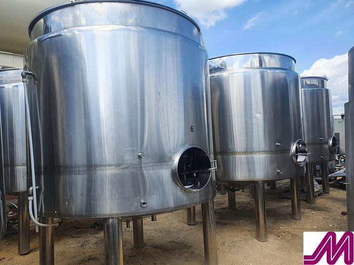 Used 2012 6,000 Litre Stainless Steel Jacketed Open Top Tank
