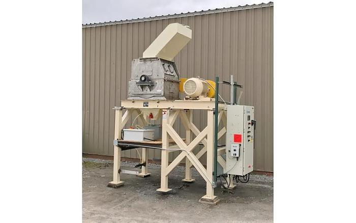 Used USED SCHUTTE HAMMER MILL, SWINGING HAMMERS, STAINLESS STEEL, 40 HP