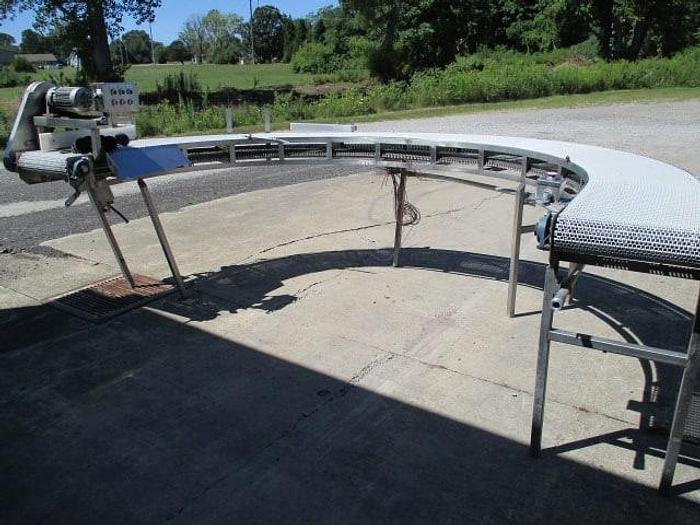 Used 180 Degree Stainless Steel Turn Conveyor