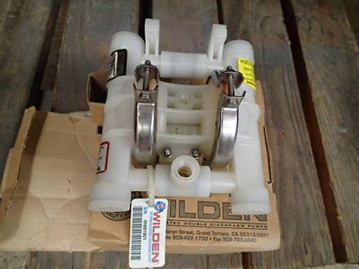Used Wilden P.025 Proflo Air Operated Polypropylene Double Diaphragm Pump-New