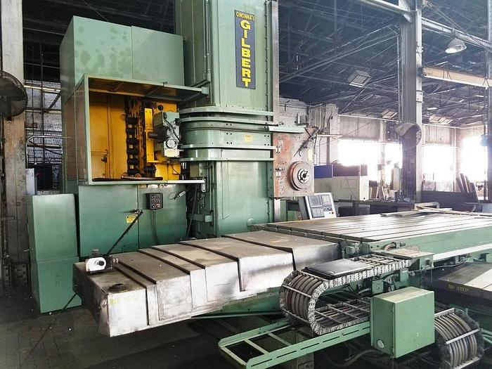 "5"" Cincinnati Gilbert Horizontal Boring Mill, Series DT, X-84"", Y-72"", 1450 RPM, Fanuc Omi, ID17498"
