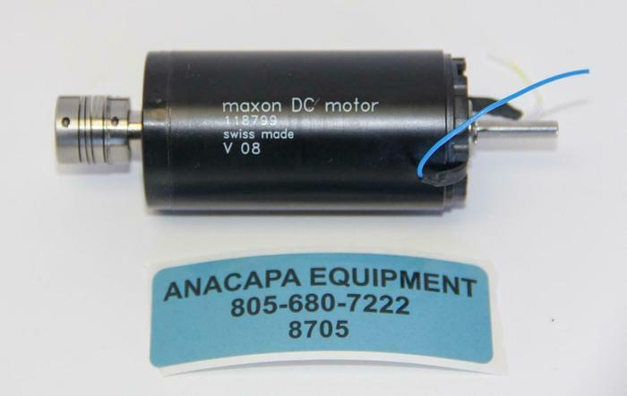 Used Maxon 118799 DC Motor V 08, 36 mm, Graphite Brushes, 70 Watt (8705)W