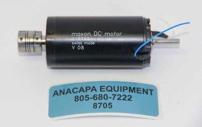 Used Maxon 118799 DC Motor V 08, 36 mm, Graphite Brushes, 70 Watt (8705)W