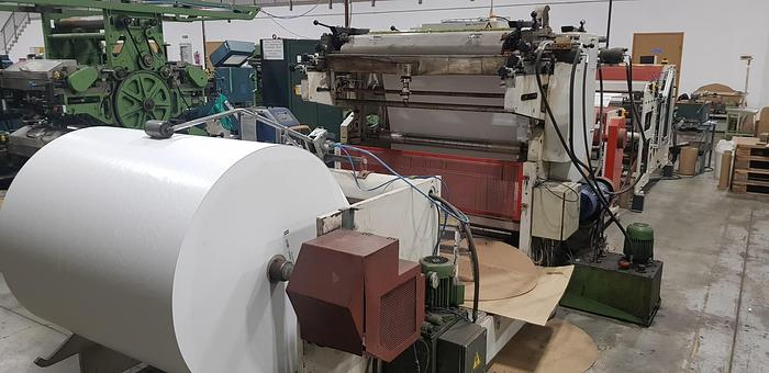 Used 1998 MONDON Automatic slitter rewinder with 2 col. flexo (for paper reels)