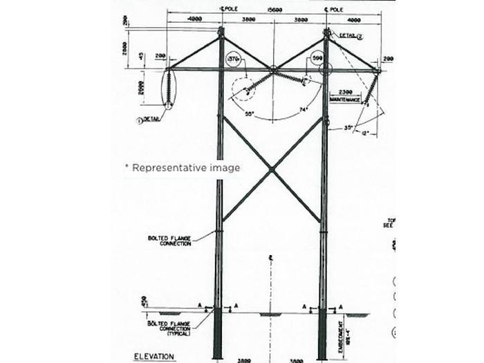 Tower/Frames - H‐frame Tangent 0°‐1° , Pile Foundation