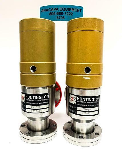 Used Huntington Mechanical Laboratories Inc. PV-150 Right Angle Valve Lot of 2(6708)W