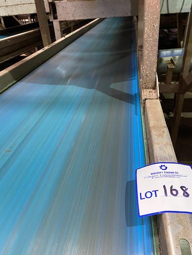 Used Stainless Steel Conveyor Belt 9.5m L 0.7m W