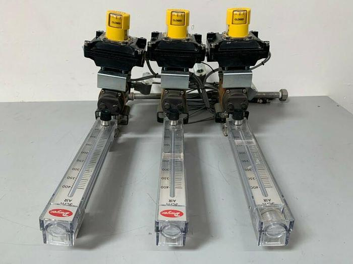 Used Flowserve Worcester Controls 10 39 SW 24D R6 Series 39 Pneumatic Actuator 120PSI