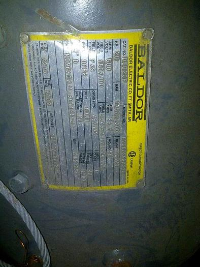 Used 20hp 1750/2300 rpm 150/300v motor