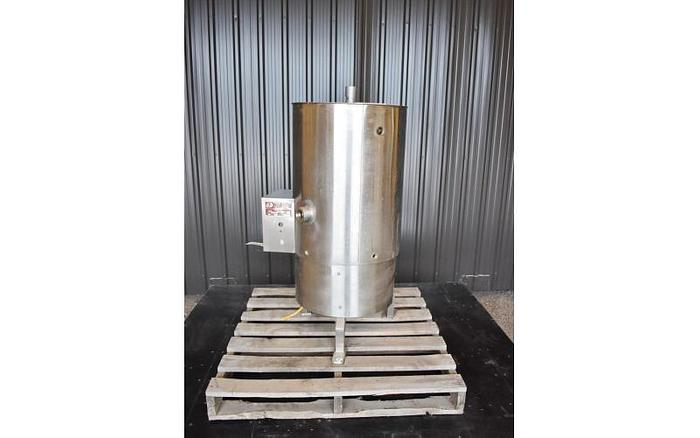USED 25 GALLON JACKETED TANK, STAINLESS STEEL, WITH SCRAPE AGITATON