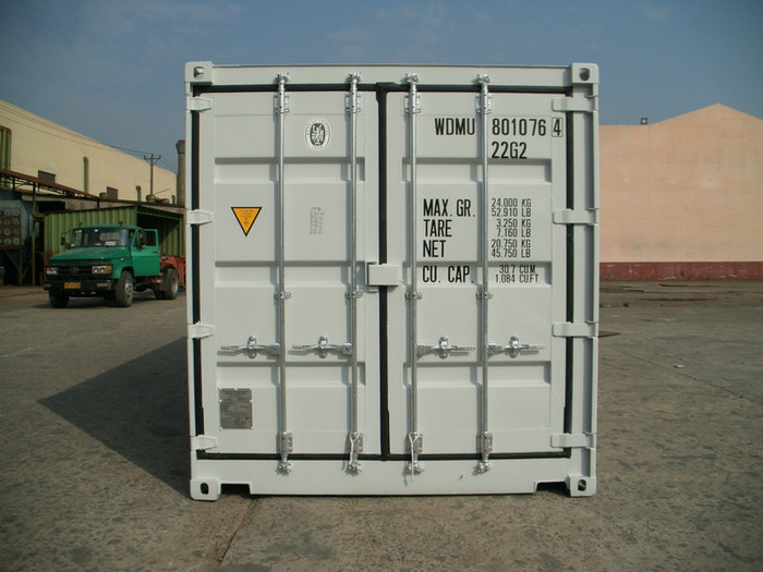 """20 'Container Full Side Access Double Doors RAL 7047 8'6 """""""