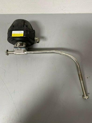 "Used ITT Pure-Flo .5-F-423XL-8-4-TM Spring-To-Close 60 PSI Valve w/ 1/2"" Sanitary Fit"