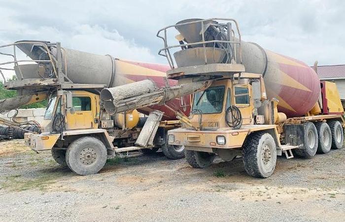 Used 2002 and 2007 Oshkosh 4 Axle Concrete Mixer Trucks