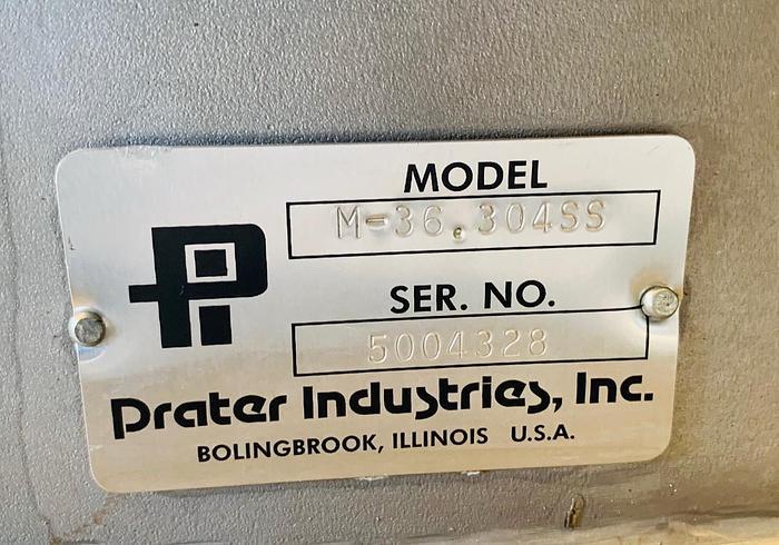 USED PRATER INDUSTRIES M SERIES FINE GRINDER, MODEL M-36