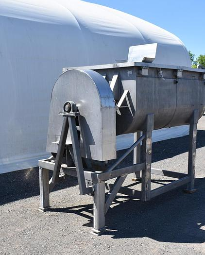 USED DOUBLE PADDLE BLENDER, 64 CUBIC FEET, STAINLESS STEEL, JACKETED