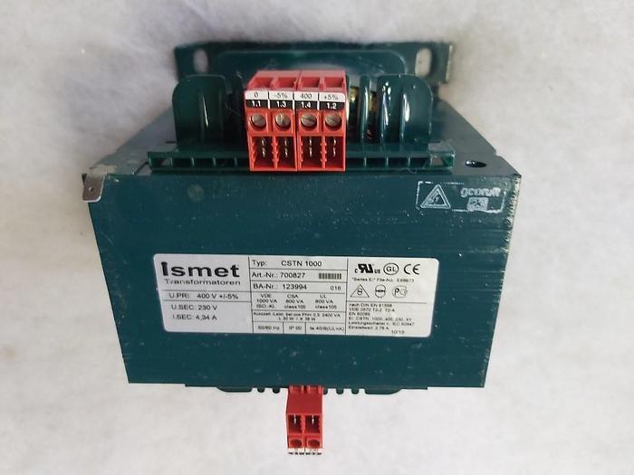 Einphasen-Steuer-Trenntransformator, 400/230V 4,34A, CSTN 1000, Ismet,  neuwertig