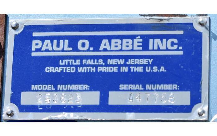 USED PAUL O ABBE ROLLING JAR MILL