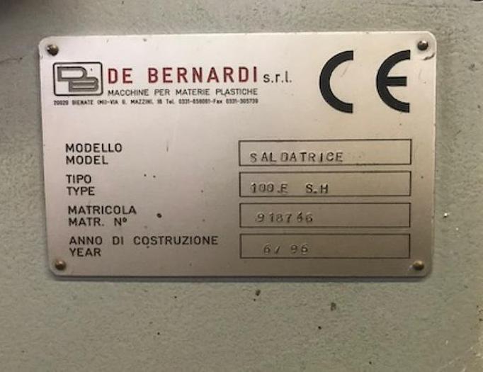 1996 De Benardi 100 E SH 9 for the production of film die cut handle bags with patch reinforcement