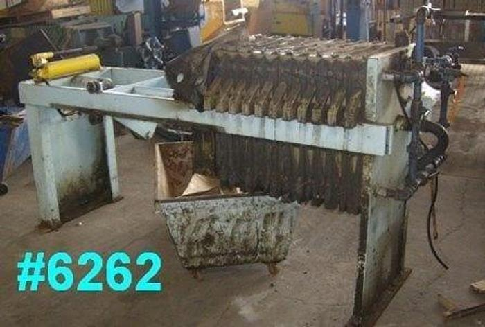 Used 4 CU. FT. FILTER PRESS – POLYPRO. – 630 MM – NON-GASKETED