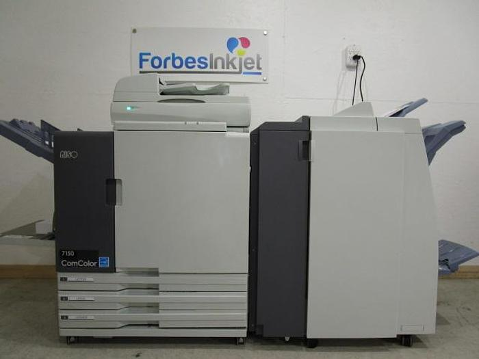Used Riso ComColor 7150 X1 Full Color Printer with Scanner and Booklet Maker Finisher