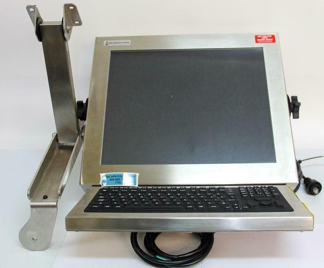Used Hope Industrial Systems HIS-WL19 Monitor, HIS-UM19-STAF Interface, KeyBoard 7763